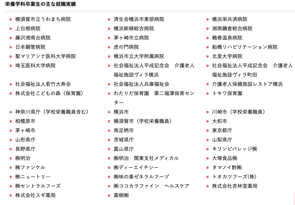 神奈川県立保健福祉大学就職先
